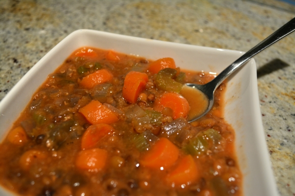 Fakkes: Gia Gia's Greek Lentil Soup slowcooker remix